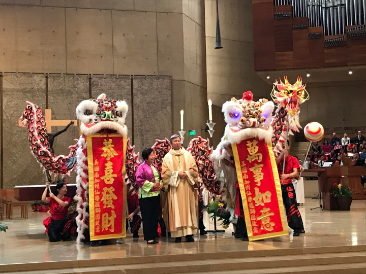 2-1-2020 Chinese New Year Celebration at LA Cathedral