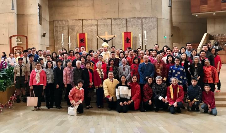 2-1-2020 St. Bridget parishioners at Chinese New Year Mass